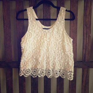Jack by B.B. Dakota cropped lace top